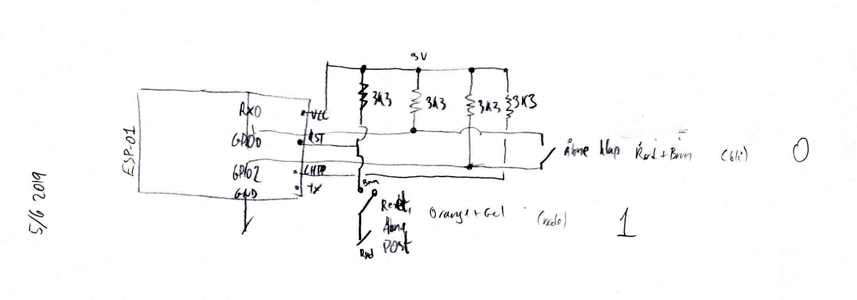 post sensor schematic